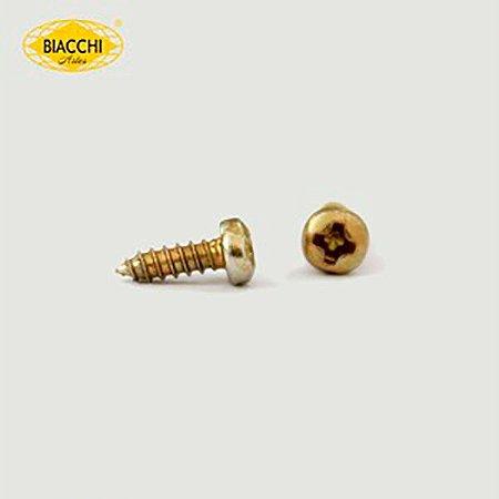 Biacchi - Parafuso Cabeça Panela - 6,5 x 2,20mm - Aço Latonado