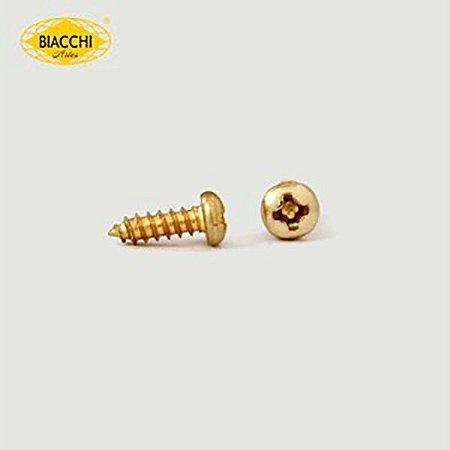Biacchi - Parafuso Cabeça Panela - 6,5 x 2,20mm - Aço Zinco Amarelo