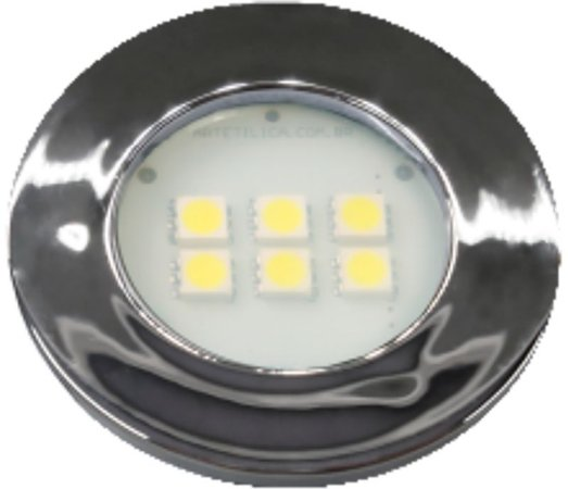 Artetílica Nuze - Luminária Pontual Circular - 6 Super LED 6000K - 110/220V Cromado - E515.C