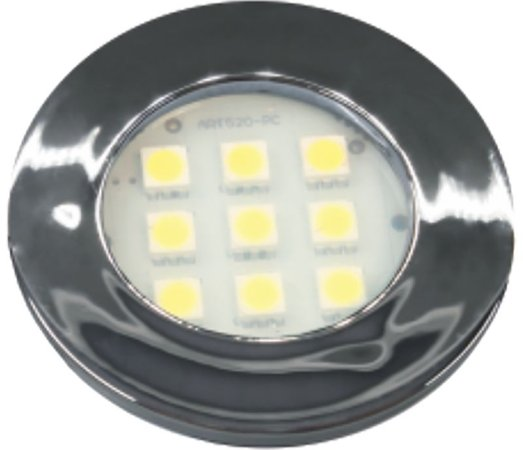 Artetílica Nuze - Luminária Pontual Circular - 9 Super LED 3000K - 110/220V Cromado - E311.C