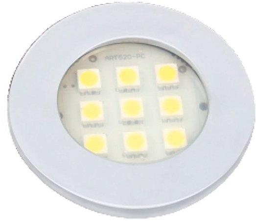 Artetílica Nuze - Luminária Pontual Circular - 9 Super LED 6000K - 110/220V Branco - E511.B