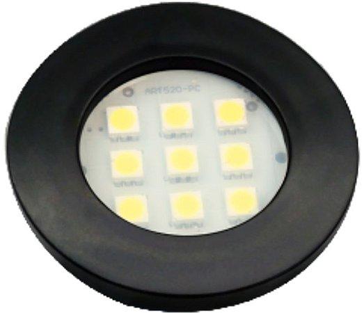 Artetílica Nuze - Luminária Pontual Circular - 9 Super LED 6000K - 110/220V Preto - E511.P