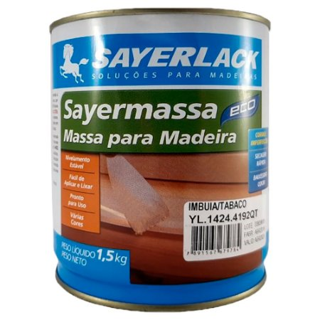 Sayerlack - Massa para madeira Sayermassa IMBUIA/TABACO - 1,50KG - YL.1424.4192QT