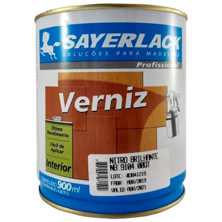 Sayerlack - Verniz Nitro NC BRILHANTE - 0,90L - NB.9104.00QT