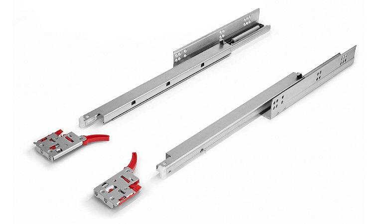 Hardt - Corrediça de Embutir Soft Closing 30kg - 45cm - Galvanizado/Zincado - B3301ZN (Invisível / Oculta)