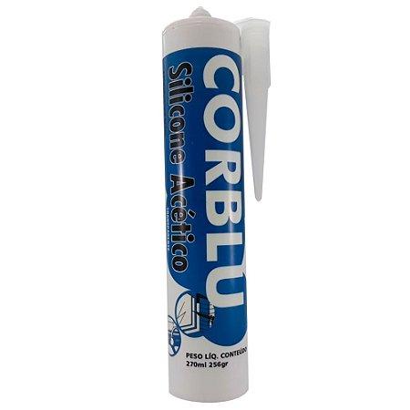 CORBLU - Silicone Acético Transparente - 256g