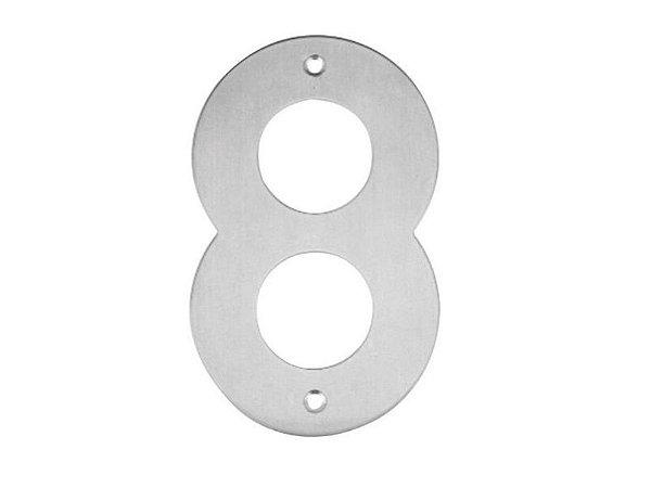 Bemfixa - Número Residencial em Inox - 8 - 145mm