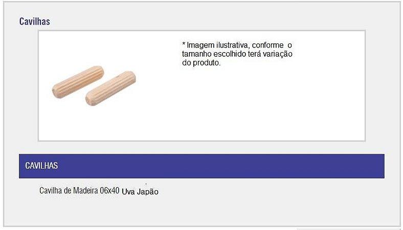 SAS PLASTIC - Cavilha de Madeira - 06 x 40 - Uva Japão