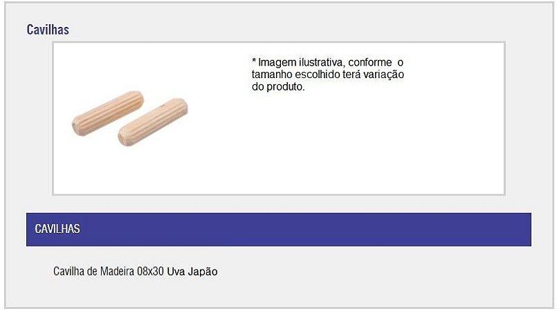 SAS PLASTIC - Cavilha de Madeira - 08 x 30 - Uva Japão