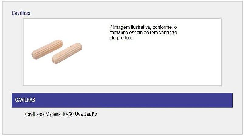 SAS PLASTIC - Cavilha de Madeira - 10 x 50 - Uva Japão
