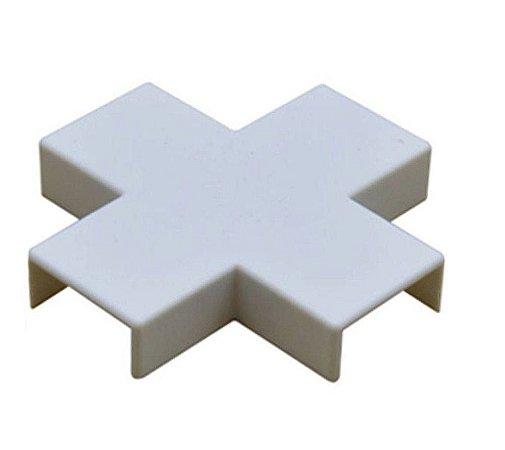 ILUMI - (6207) Conexão p/ Canaleta - Cruzeta - 20 x 10 - Branco (ftz)