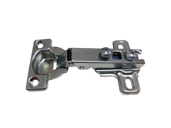 Jomarca - Dobradiça de Caneco Reta 26mm + Calço 5mm - Zincado Branco