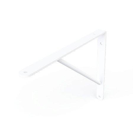DiCarlo - Suporte Mão Francesa Branco - 25cm - s/ Kit de Montagem