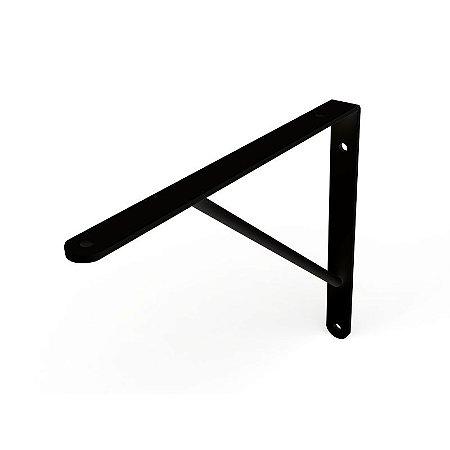 DiCarlo - Suporte Mão Francesa Preto - 40cm - s/ Kit de Montagem