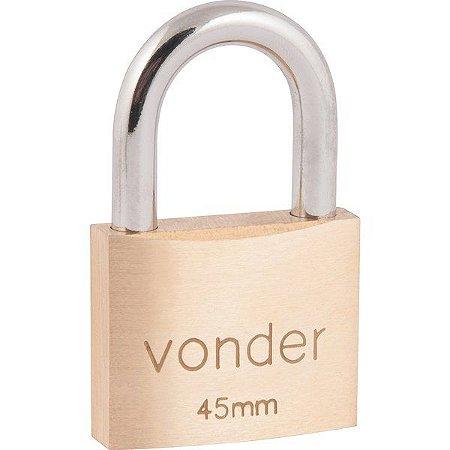 VONDER - Cadeado de Latão c/ 2 Chaves - 45mm
