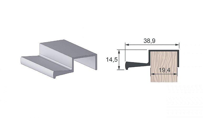 Alternativa - Perfil Puxador 2009 Branco Fosco - PLIBL - 6,0 m
