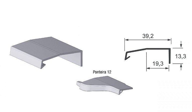 Alternativa - Perfil Puxador Arezzo 18mm Preto - PLIBL - 6,0 m