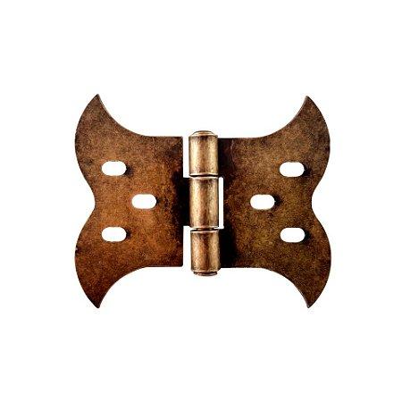Bigfer - Dobradiça Tipo Borboleta (R) Ouro Velho