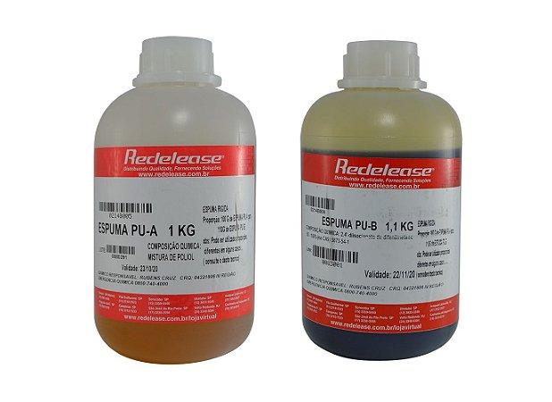 Redelease - Kit Espuma de Poliuretano A + B Expansiva (02 KG)