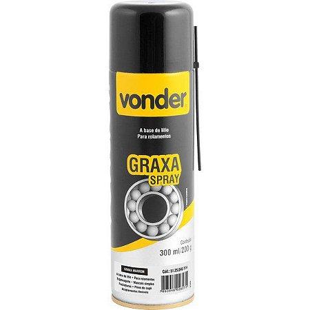 VONDER - Graxa Marrom em Spray - 200gr - Base de Lítio