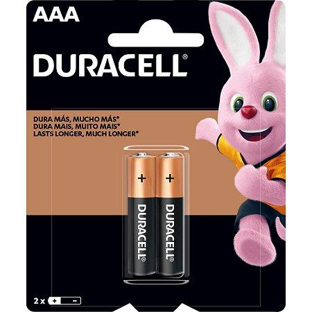 DURACELL - Pilha Alcalina AAA Palito - c/ 2 unidades