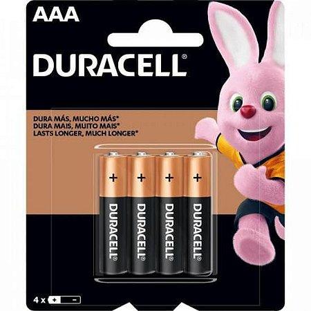 DURACELL - Pilha Alcalina AAA Palito - c/ 4 unidades
