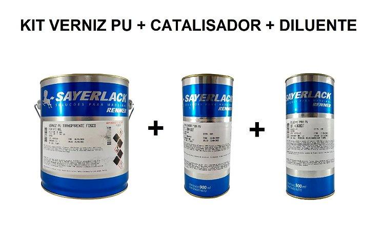 Sayerlack - KIT Verniz PU Fosco 6713 3,6L + Catalisador + Diluente