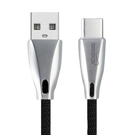 Brix Box - Black - Cabo Premium USB Tipo C - LED
