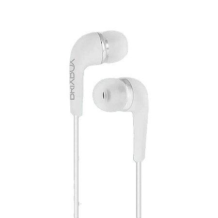 Brix Box - Fone de Ouvido Branco - 1,2 metros