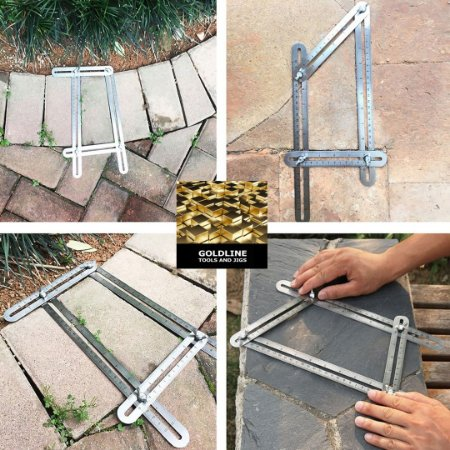 GOLDLINE - Angle Izer - Esquadro Multi-Ângulo em Liga de Metal Premium