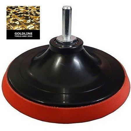 GOLDLINE - Suporte de Borracha com Velcro para Lixagem (Boina)
