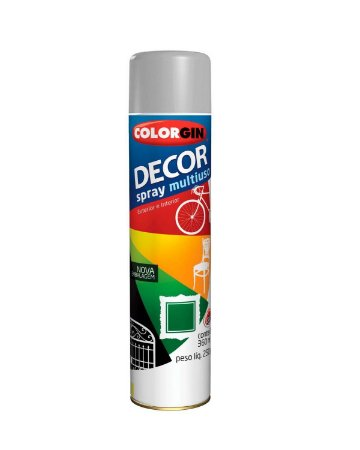 Colorgin - Tinta Spray Decor 360ml - Alumínio Brilhante – 6933