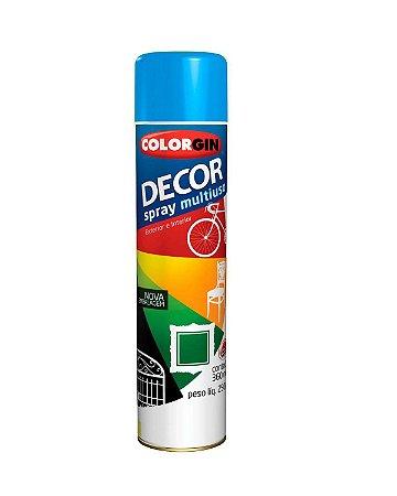 Colorgin - Tinta Spray Decor 360ml - Azul Médio –  8621