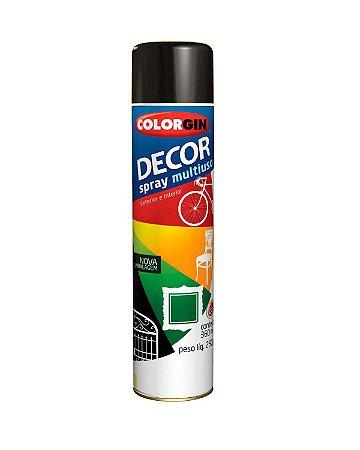Colorgin - Tinta Spray Decor 360ml - Preto Brilhante - 8701