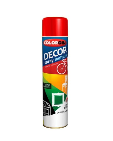 Colorgin - Tinta Spray Decor 360ml - Vermelho - 8761
