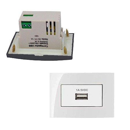 MarGirius - Conjunto Módulos USB Sleek - 1A-BIV BR - Branco (PA016784)