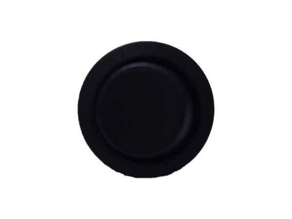 Lumitek - Conjunto Interruptor de Embutir Redondo + Cabo 10cm - Simples - Preto