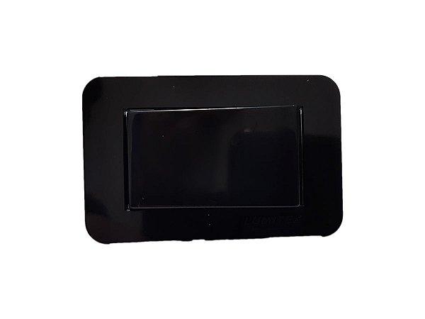 Lumitek - Interruptor de Embutir p/ Móveis - Paralelo - 10A 250V - Preto