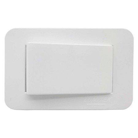 Lumitek - Interruptor de Embutir p/ Móveis - Simples - 10A 250V - Branco