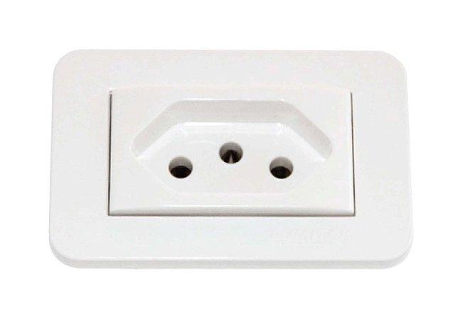 Lumitek - Tomada de Embutir p/ Móveis - 20A 250V - Branco