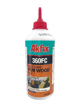 Akfix - 360FC Cola PUR Liquida Monocomponente D4 - Cura Rapida (500g) Fast Cure PUR Wood Glue