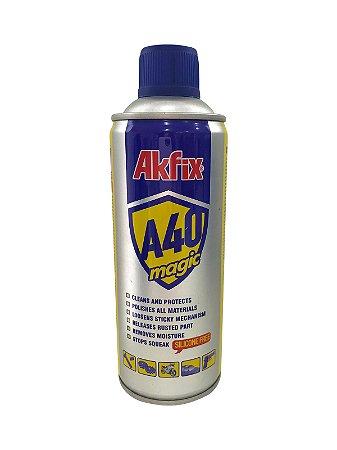 Akfix - A40 Spray Anti-Corrosivo e Desingripante 400ml (Spray/Óleo Lubrificante Multiuso)