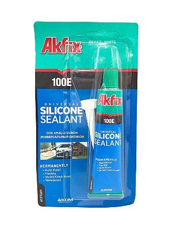 Akfix - 100E Selador de Silicone Universal Monocomponente de Cura Rapida - (50ml) - Branco