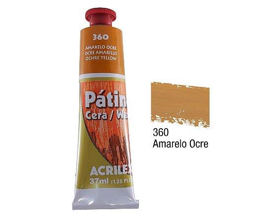 Acrilex - Patina em Cera 37ml - Amarelo Ocre (360)