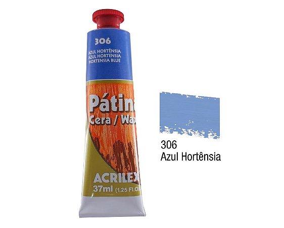 Acrilex - Patina em Cera 37ml - Azul Hortênsia (306)