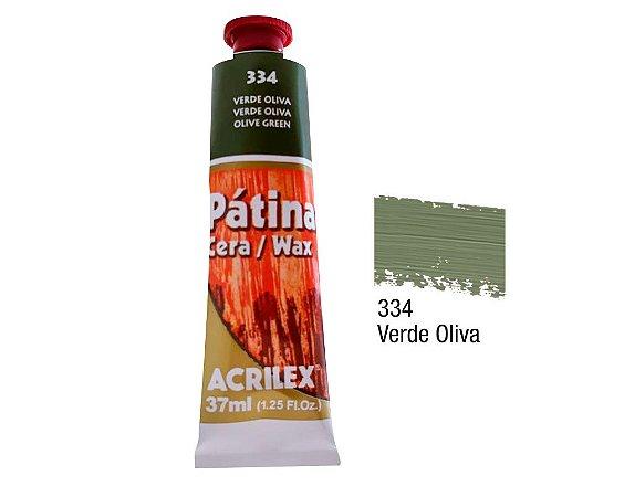 Acrilex - Patina em Cera 37ml - Verde Oliva (334)