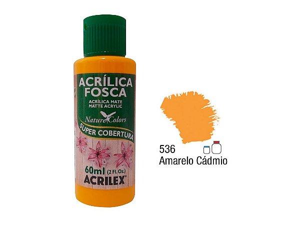 Acrilex - Tinta Acrílica Fosca 60ml - Amarelo Cadmio (536)