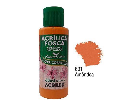 Acrilex - Tinta Acrílica Fosca 60ml - Amêndoa (831)