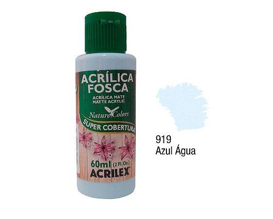 Acrilex - Tinta Acrílica Fosca 60ml - Azul Agua (919)