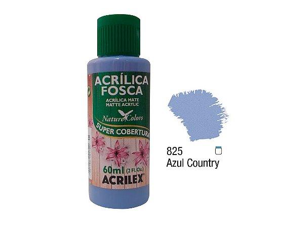 Acrilex - Tinta Acrílica Fosca 60ml - Azul Country (825)